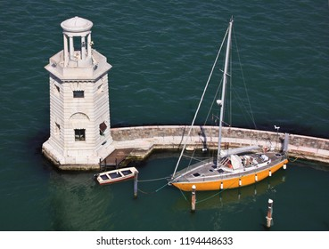Lighthouse San Giorgio Maggiore and yachts, Venice, Italy