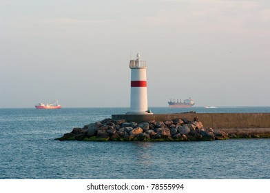 lighthouse in the sea of Istanbul, Turkey