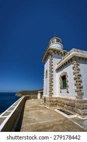 The Lighthouse of Serifos island, Cyclades, Greece, from a side view