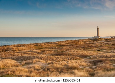 Lighthouse in Skagen in the northern part of Denmark.
