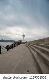 Lighthouse, South Korea in cloudy day