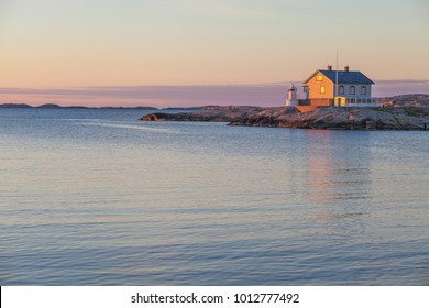 A lighthouse and a summer house, Marstrand, Bohuslän, Sweden