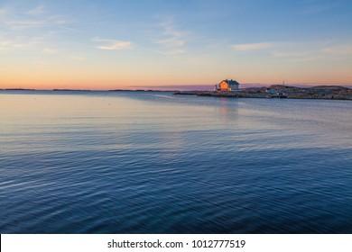 A lighthouse and a summer house, Marstrand, Bohuslän, Sweden