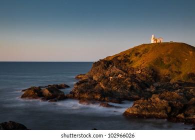 Lighthouse at sunrise, Port Macquarie, New South Wales, Australia