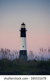 Lighthouse at sunrise, Tybee island, USA