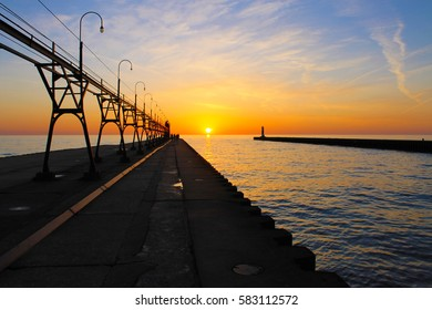 Lighthouse Sunset Channel