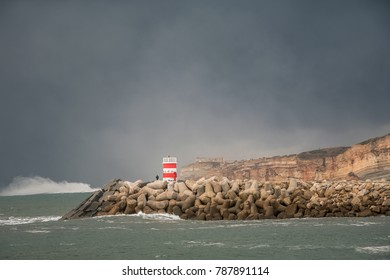 Lighthouse with terrible weather