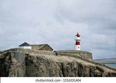Lighthouse in Torshavn (Faroe Islands)