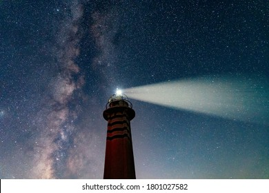 Lighthouse under the Milky Way