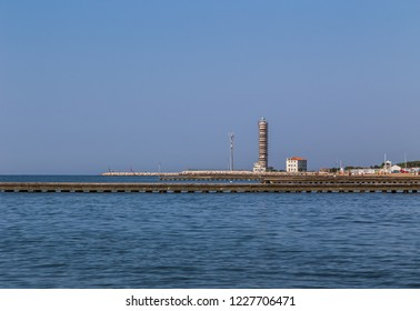 Lighthouse under reconstruction, Lido di Jesolo, Italy