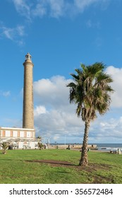 Lighthouse view Maspalomas in Gran Canaria, Spain