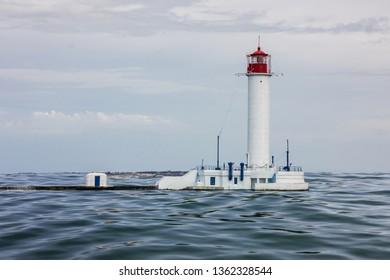 Lighthouse Vorontsov sea view, Odessa, Ukraine.