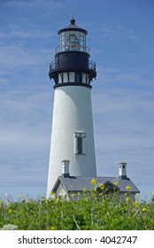 The lighthouse at Yaquina Head in Oregon.
