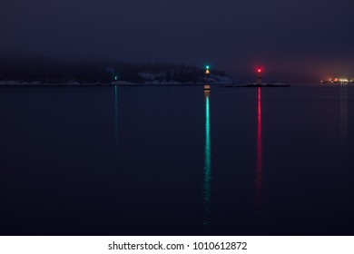 Lighthouses in Oslo harbour