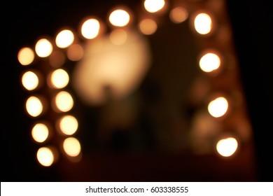 lighting blur in dressing room