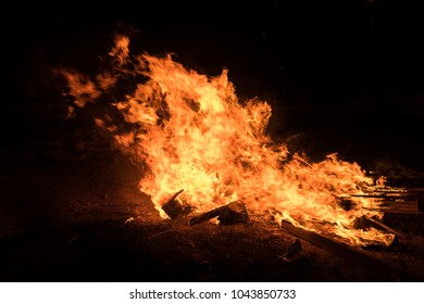 Lighting of bonfires at Jewish holiday of Lag Baomer, The day of commemorate the death of Rabbi Shimon Bar Yochai