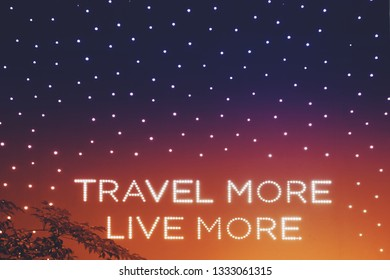 lighting decoration travel more live more quote on colorful wall