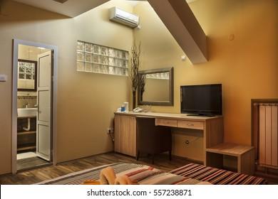 Lighting Equipment, Electric Lamp, Pillow, Hotel Room, Hotel
