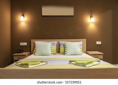 Lighting Equipment, Electric Lamp, Pillow, Hotel Room, Hotel