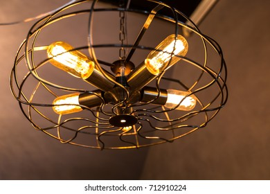 Lighting Fan lamp is hanging at ceiling, stylish, fan design lamp