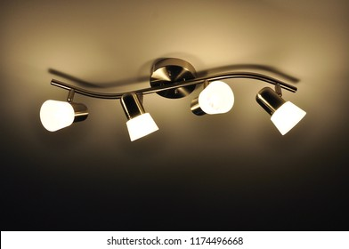 Lighting fixtures in the ceiling