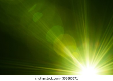 Lighting green flare abstract