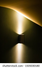 Lighting and light fitting in stairwell with curved surfaces