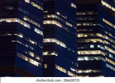 lighting of mirror window building