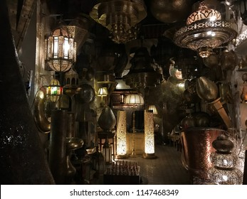 lighting in a Moroccan market