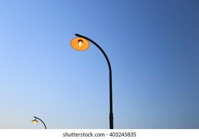 The lighting pole