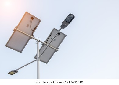 Lighting and solar panels for clean energy