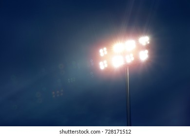 lighting from spotlight in night with rain.