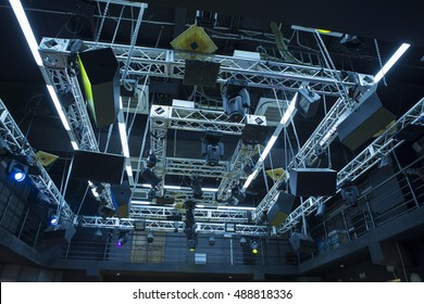 The lighting system of a small chamber hall of the theater scene