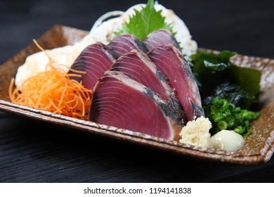 lightly-roasted Bonito Sashimi