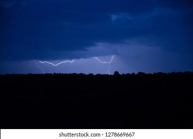 Lightning before rain