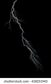 Lightning: lightning bolt, isolated against black ground