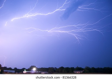 Lightning Crawlers on Thunderstorm Anvil