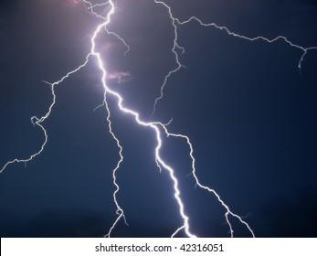 Lightning in a dark night