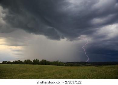 Lightning At Dawn
