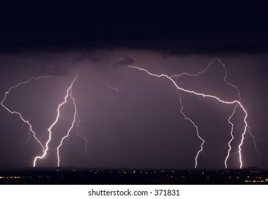 Lightning display in southwestern United States