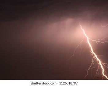 lightning during night thunderstorms