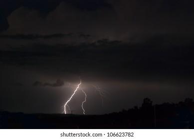 Lightning a far