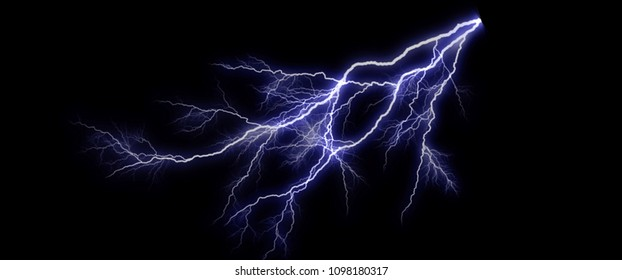 Lightning in the landscape background