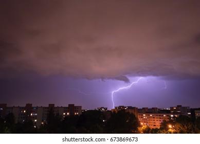 Lightning in Munich - Neuperlach