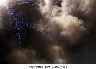 Lightning on a stormy day