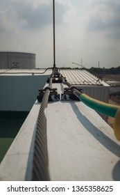 Lightning Protection Components,lightning rod of lightning protection system to prevent lightning damaging the building is install on rooftop building.