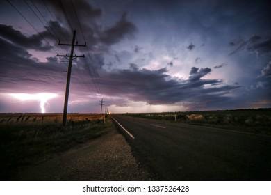 Lightning storm kansas