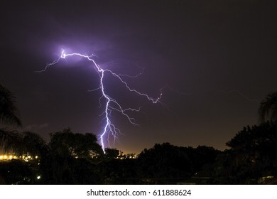 Lightning storm long exposure capture