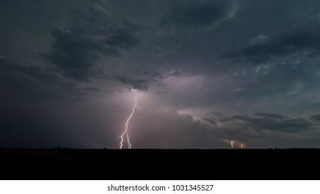 Lightning Storm near Pratt, Kansas, 17 June 2017