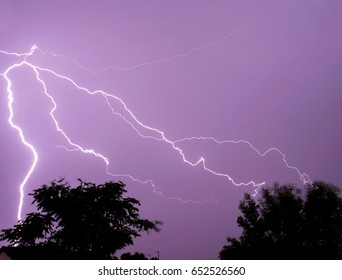 Lightning storm weather
